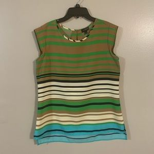 Multi colored striped tank top from The Limited